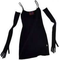 Black Knit Mini Dress With Gloves-Marc Jacobs