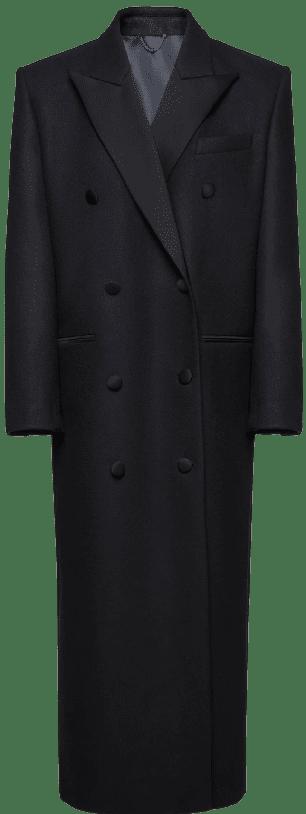 Black Long Classic Wool Coat