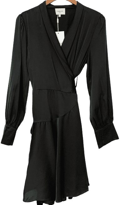 Black Mia Wrap Dress