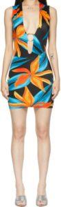 Black & Orange Sleeveless Ring Dress-Louisa Ballou