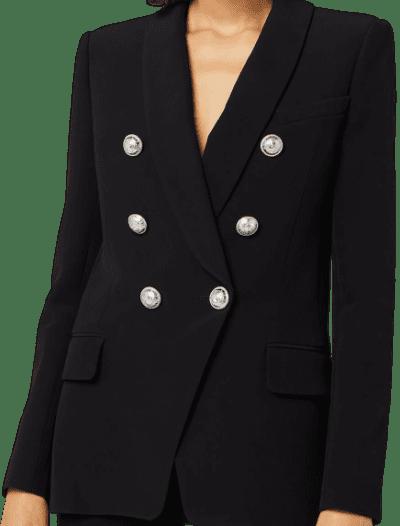 Black Oversized Crepe Jacket