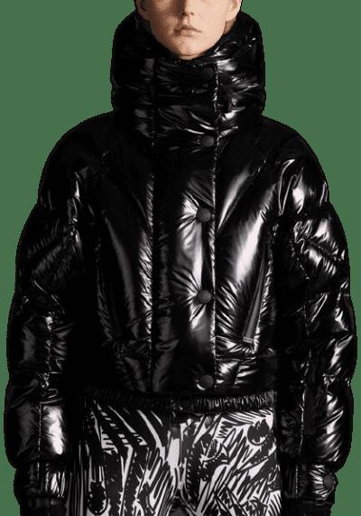 Black Plumel Bomber Jacket-Moncler