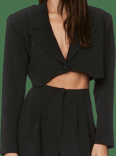 Black Power Through Cropped Blazer