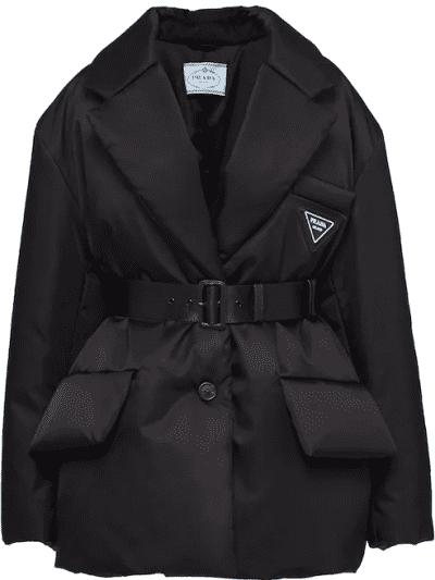 Black Re-Nylon Gabardine Puffer Jacket