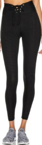 Black Ribbed Football Legging-Year Of Ours