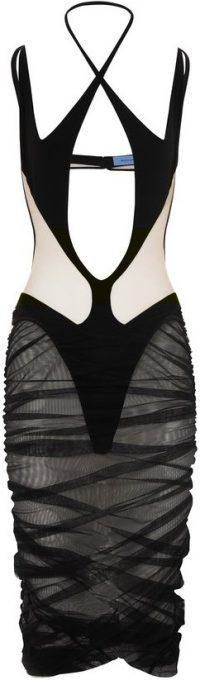 Black Sheer Cut-Out Dress-Mugler