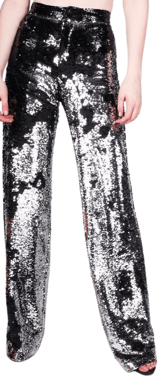 Black Silver Sequin Flares-Any Old Iron
