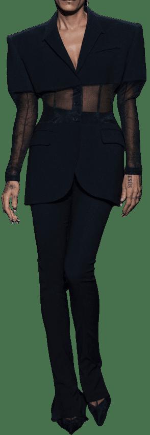 Black Spring 2021 Ready-To-Wear Blazer-Mugler