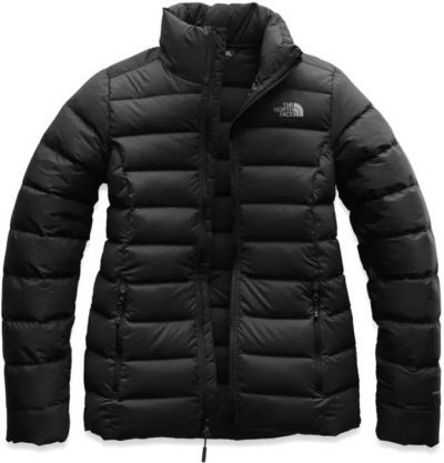 Black Stretch Down Jacket-The North Face