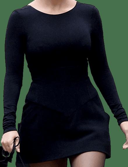 Black Vintage 1995 Bustier Dress