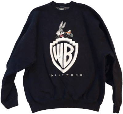 Black Warner Bros Bugs Bunny Vintage Sweatshirt-Warner Bros