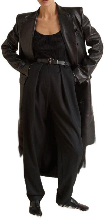 Black Winter 2021 Leather Coat-Magda Butrym