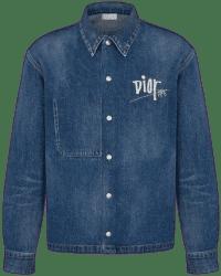 Blue Denim Dior And Shawn Overshirt-Dior