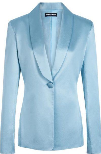 Blue Satin Tailored Jacket
