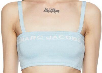 Blue The Bandeau Tank Top-Marc Jacobs