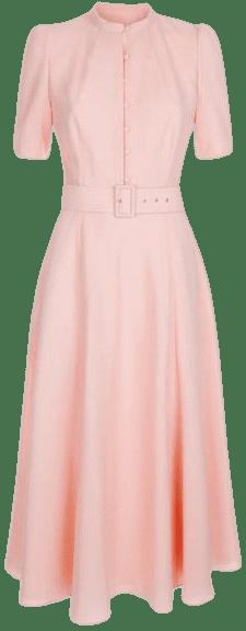 Blush Ahana Crepe Midi Dress-Beulah