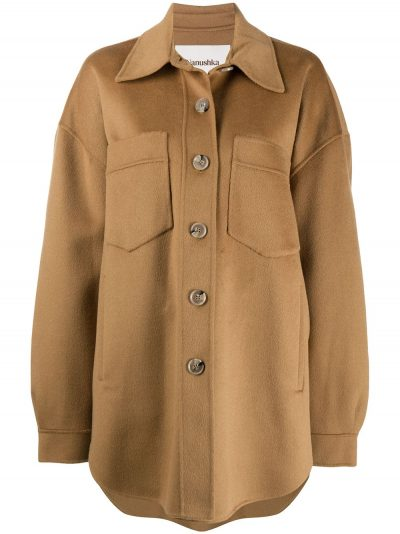 Brown Button-Down Coat