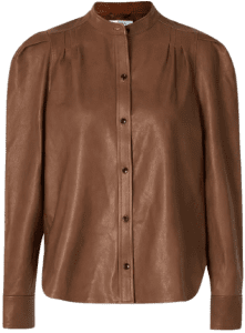 Brown Charlie Leather Shirt-Frame