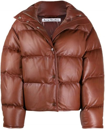 Brown Down-Feather Long-Sleeve Jacket-Acne Studios