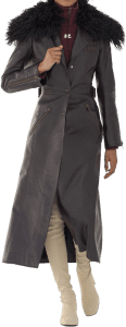 Brown Fall 2021 Leather Trench Coat-Courreges