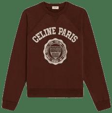 Brown Flocked Cashmere Sweater-Celine