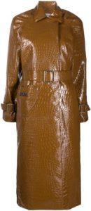 Brown Patent Trench Coat-Saks Potts