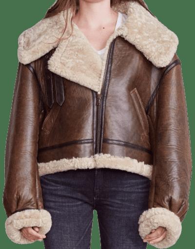 Brown Sherpa Aviator Jacket