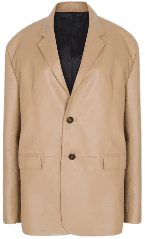 Butter Oversized Faux Leather Blazer-The Frankie Shop