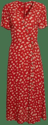 Button-Wrap Midi Dress-Madewell