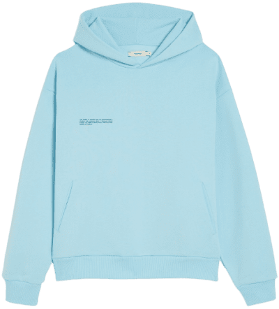 Celestial Blue Lightweight Recycled Cotton Hoodie-Pangaia