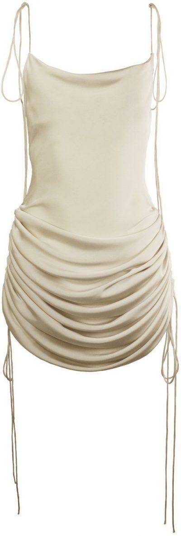 Champagne Drawstring Dress-Orseund Iris