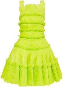 Citrus Jacinto Pleated Mini Dress-Aje