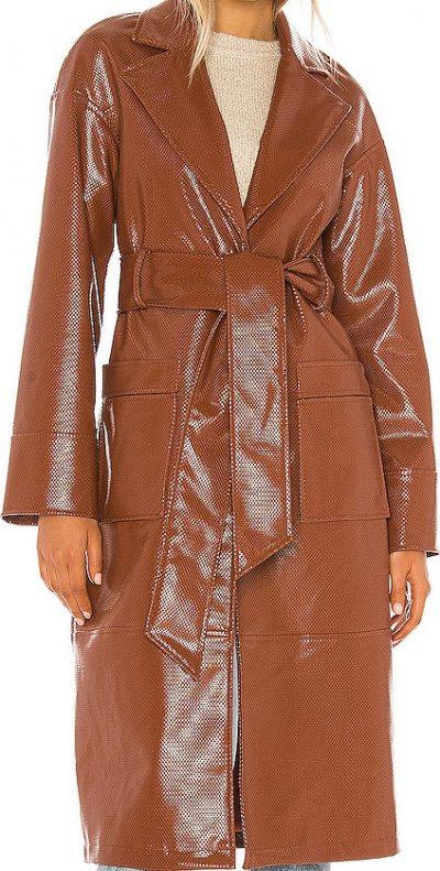 Cognac Esma Trench Coat