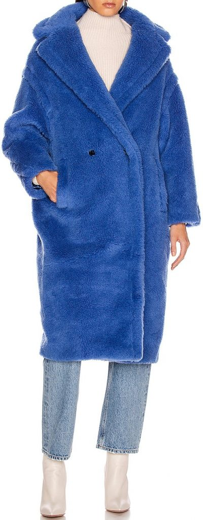 Cornflower Blue Teddy Tedgirl Coat-Max Mara