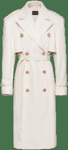 Cream Oversized Leather Trench Coat-Magda Butrym