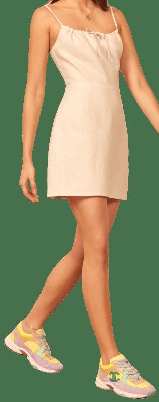 Cream Violaine Dress-Reformation