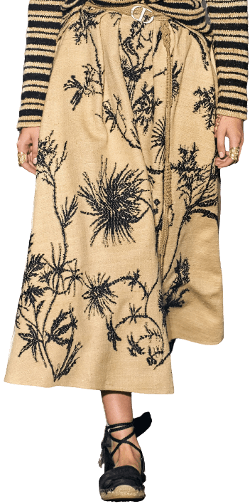 Creme Spring 2020 Skirt