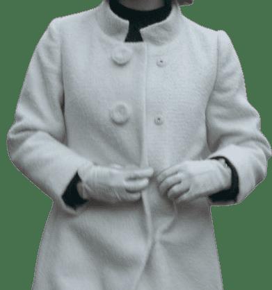Custom Off-White Wool Coat