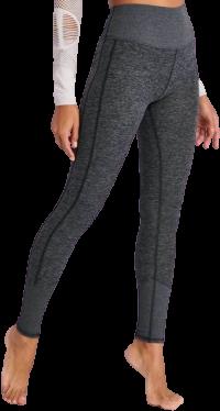 -Dark Heather Grey High-Waisted Lounge Leggings