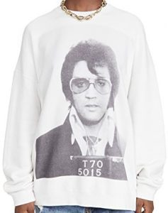 Dirty White Elvis T 70 Oversized Crew Neck Sweatshirt -R13