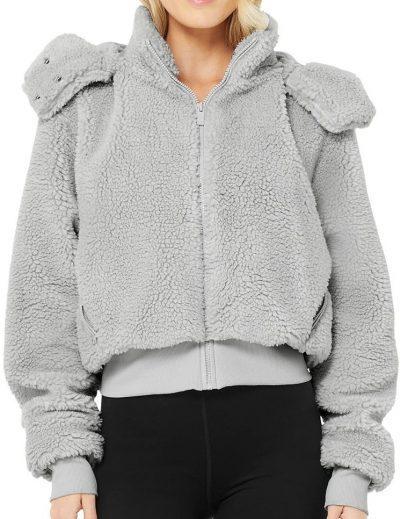 Dove Grey Foxy Sherpa Jacket-Alo Yoga