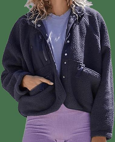 Eclipse Hit The Slopes Fleece Jacket-Free People