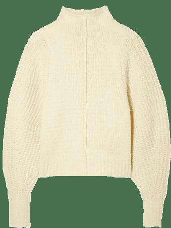 Ecru Edilon Wool Turtleneck Sweater