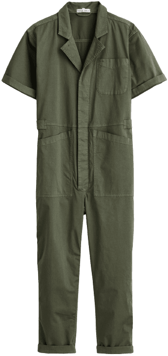 Faded Olive The Standard Short-Sleeve Jumpsuit-Alex Mill