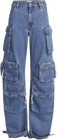 Fern Blue Denim Pants-The Attico