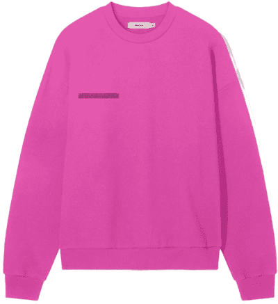 Flamingo Pink Recycled Cotton Sweatshirt-Pangaia