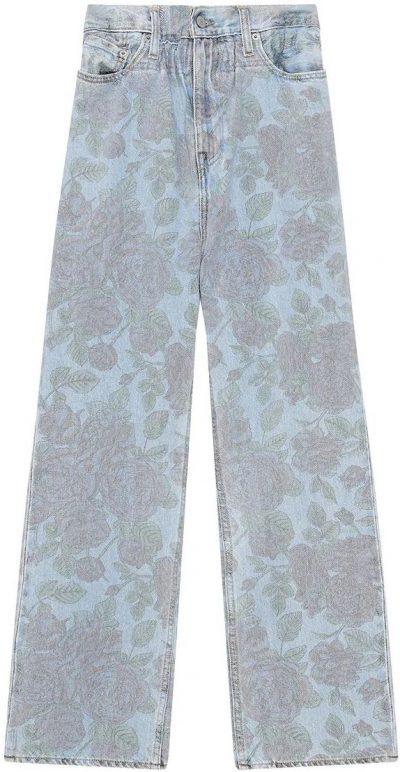 Floral Print High-Waist Jeans-Ganni X Levi's