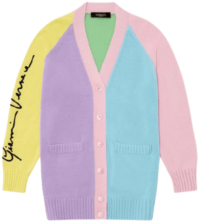 GV Signature Cashmere Cardigan-Versace