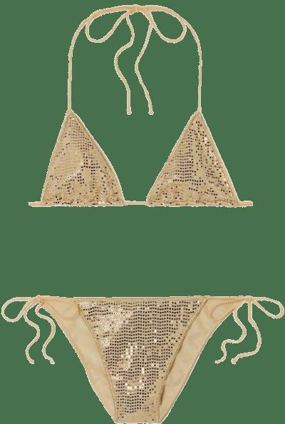 Gold Disco Microkini Sequinned Bikini