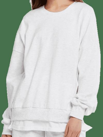 Gray Ariana Layered Effect Sweatshirt-Storets
